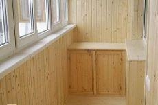 Балкон вагонкой фото