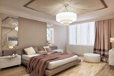 Потолок в спальне: идея дизайна