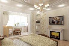 Дизайн комнаты совмещенной с балконом фото идеи
