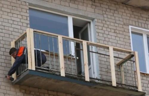 Балкон сайдинг своими руками