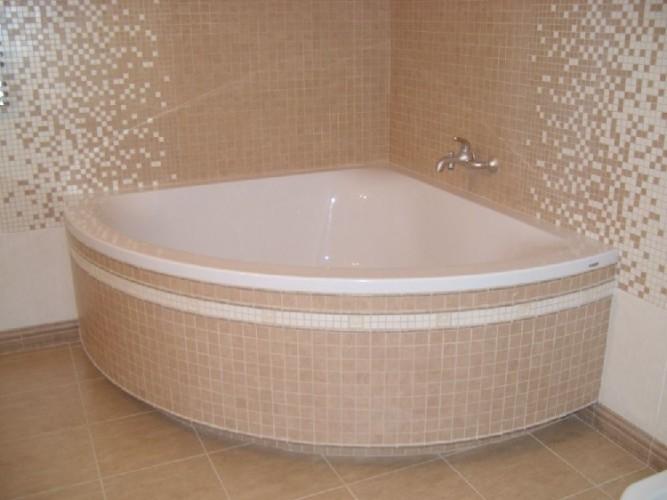 Экран для ванной полукруглый