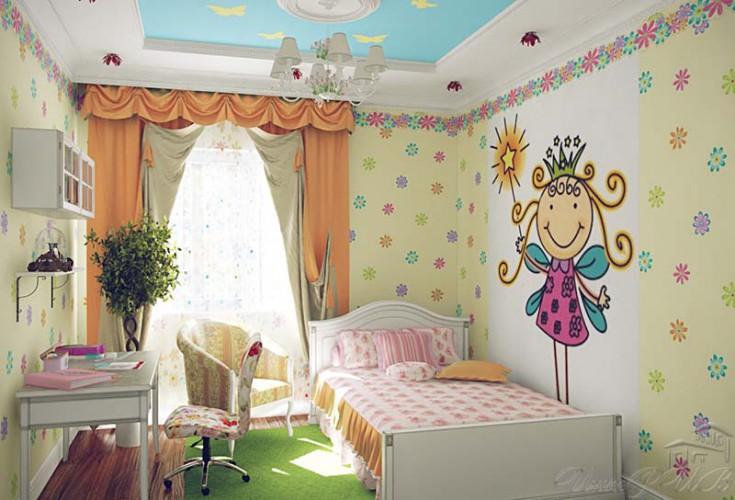 Фрески в детскую комнату фото