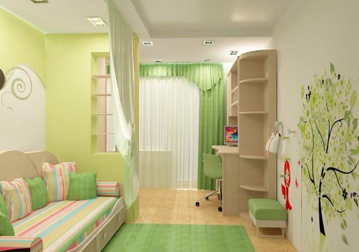 Интерьер комнаты для девочки-подростка фото