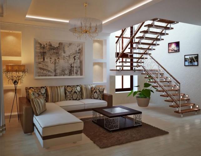 Дизайн потолка из панелей мдф