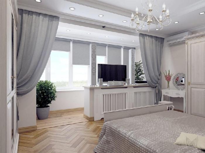 Дизайн балкон объединенный с комнатой