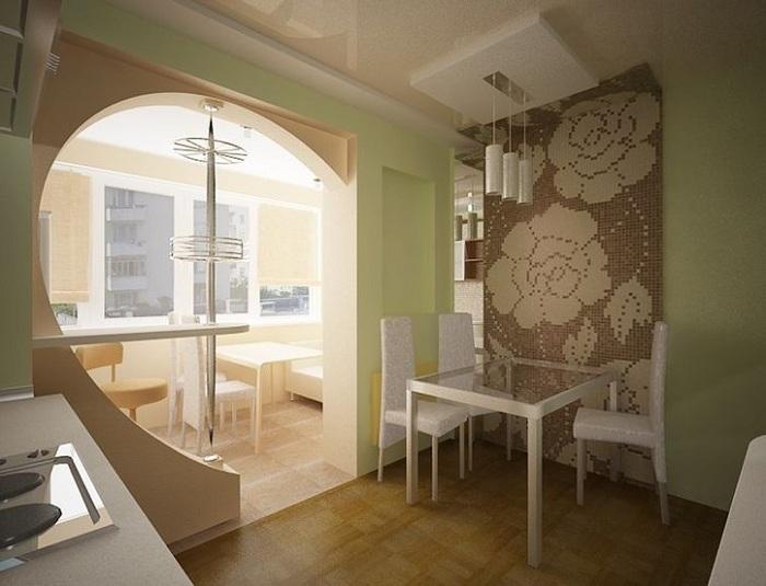 Дизайн балкона совмещённого с комнатой