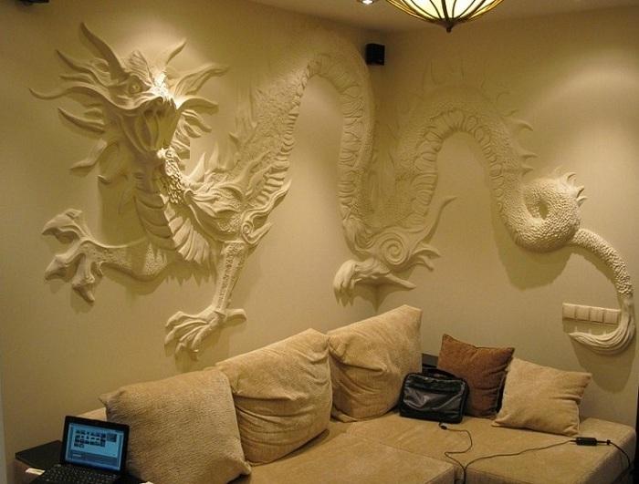 Объемные картины на стене своими руками