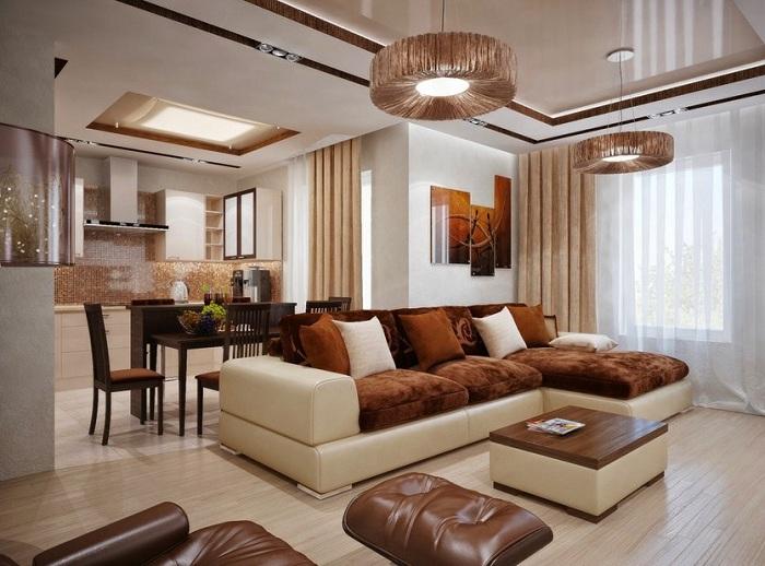 Дизайн гостиной совмещенной с кухней, Советы и рекомендации от специалистов