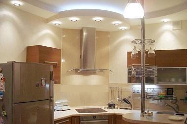 Потолок на кухне: идея дизайна