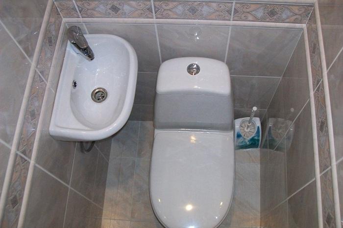 Дизайн туалета с раковиной фото в хрущевке
