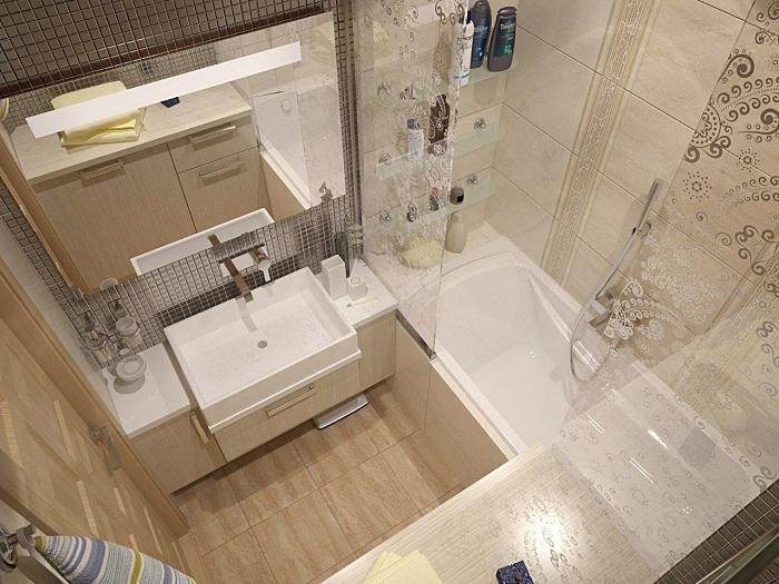 Ванная комната дизайн 180 на 180