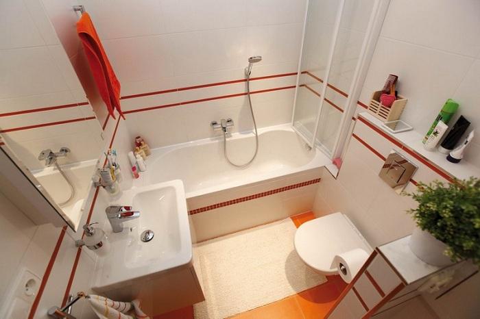 Планировка ванной комнаты совмещенной с туалетом: фото и примеры
