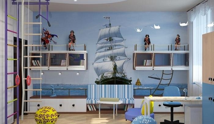 Дизайн детской комнаты мальчики фотообои