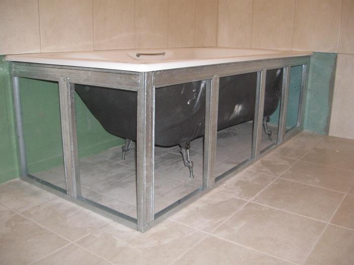 Установка экрана под ванну: пошаговая инструкция