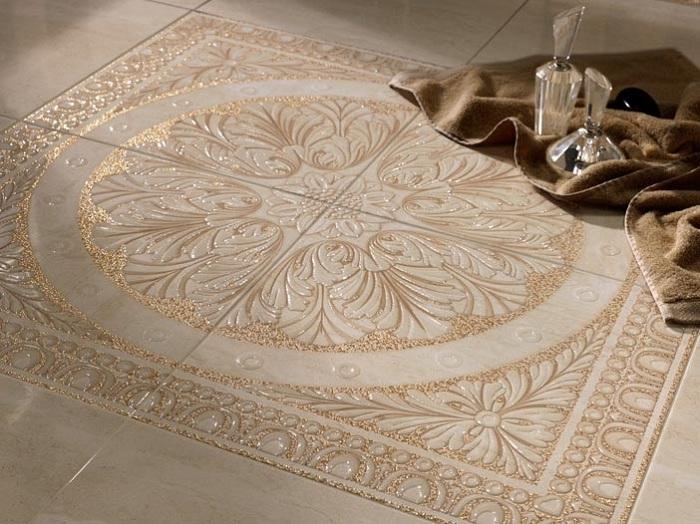 Керамическая плитка на полу фото