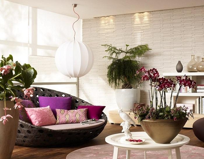 Комнатные цветы и растения в интерьере квартиры фото