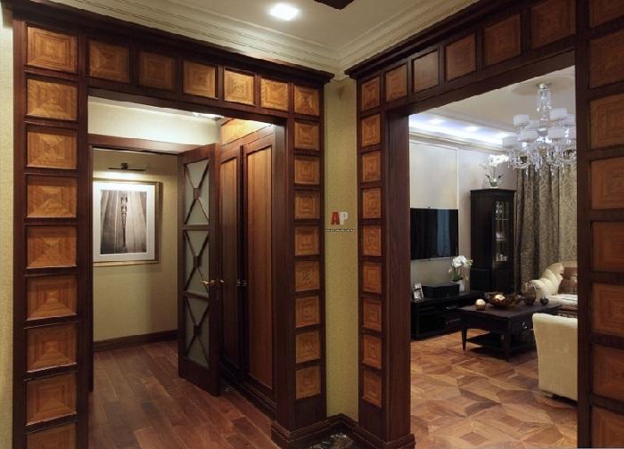 Оформление дверного проема МДФ фото