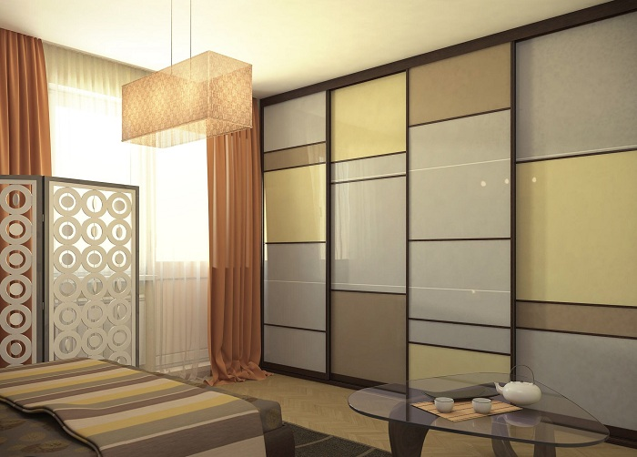 Раздвижные перегородки для зонирования пространства в комнате: варианты использования