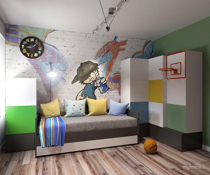 Рисунок на стене в детской фото
