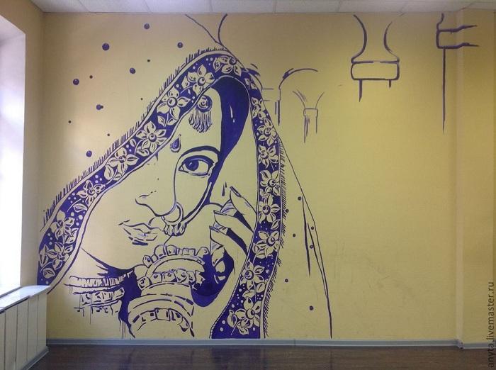 Рисунок на стене фото