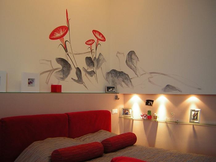 Рисунок на стене в квартире фото