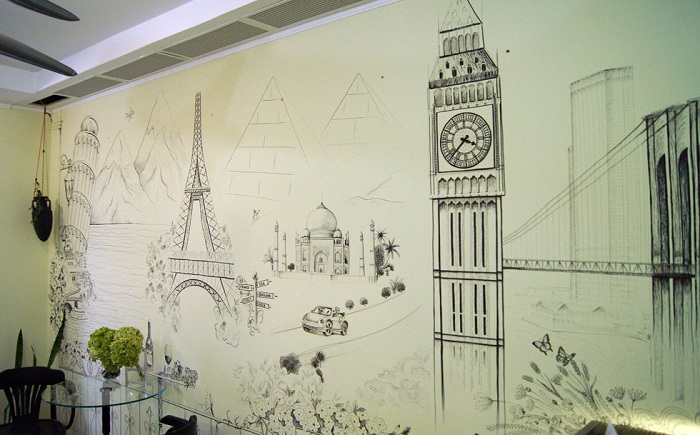 Город своими руками рисунки