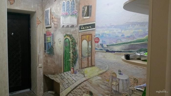 Рисунки на стенах в прихожей фото