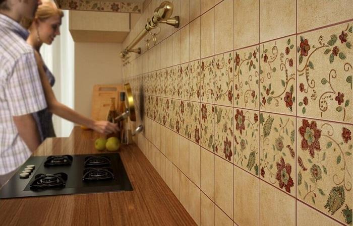 функциям как положить плитку если встроенная кухня пропилена только