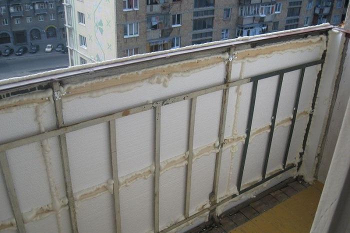 Как утеплить балкон пенопластом фото