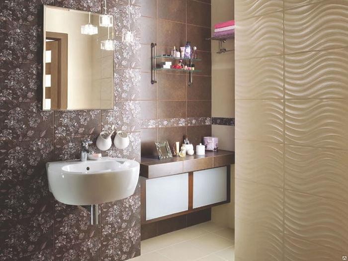 Варианты модной укладки плитки в ванную фото