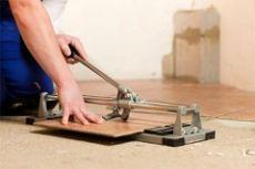 Как пользоваться плиткорезом ручным