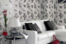 Черно белые обои в интерьере фото примеров