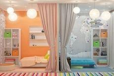 Дизайн и оформление детской комнаты для двоих детей: фото примеров