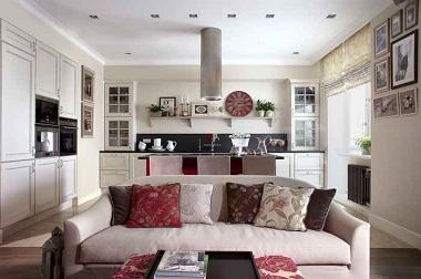Дизайн Кухни-гостиной: 107 Фото (реальные) и 6 Идей (Неочевидные) | 252x380