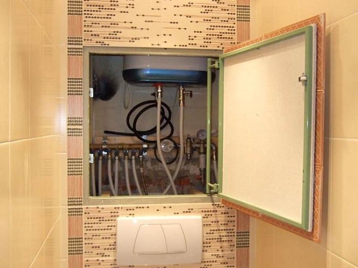 Как спрятать трубы в туалете фото