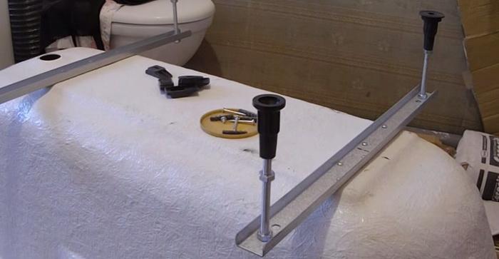 Монтаж каркаса для ванны фото